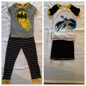 BOGO 2 pairs boys size 7 Batman pajamas